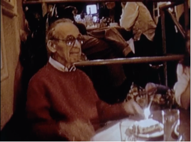 Oscar Berliner and birthday cake in Nobody's Business