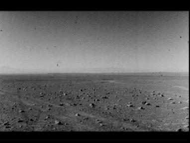 black and white image of the barren landscape of the Atacama desert